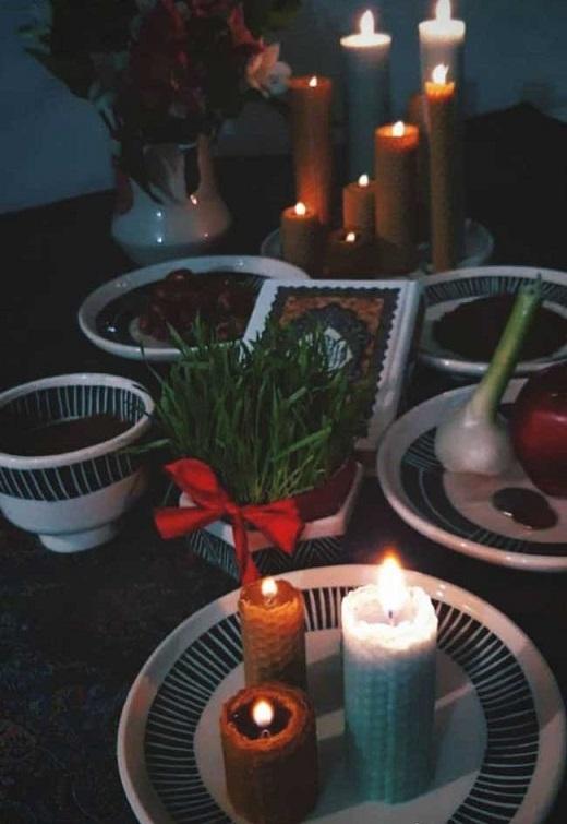 شمع آرایی سفره هفت سین2
