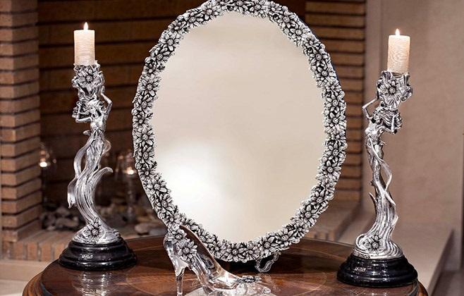 شمع آرایی و آینه شمعدان