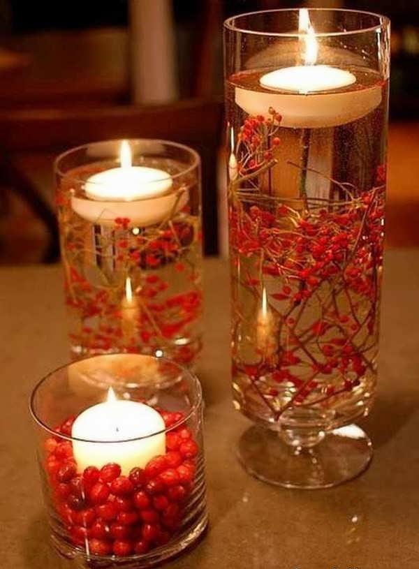 تزئین سفره هفت سین با شمع 4