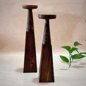 جاشمعی چوبی هرمی