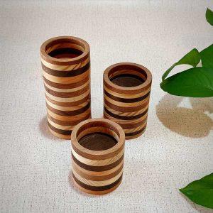 فروش جاشمعی چوبی حلقه ای