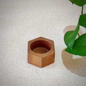فروش جاشمعی چوبی هگزا
